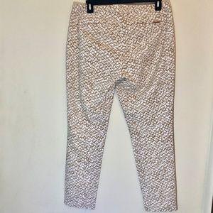 Michael Kors Pants - Michael Kors Gold and White Straight Leg Pants